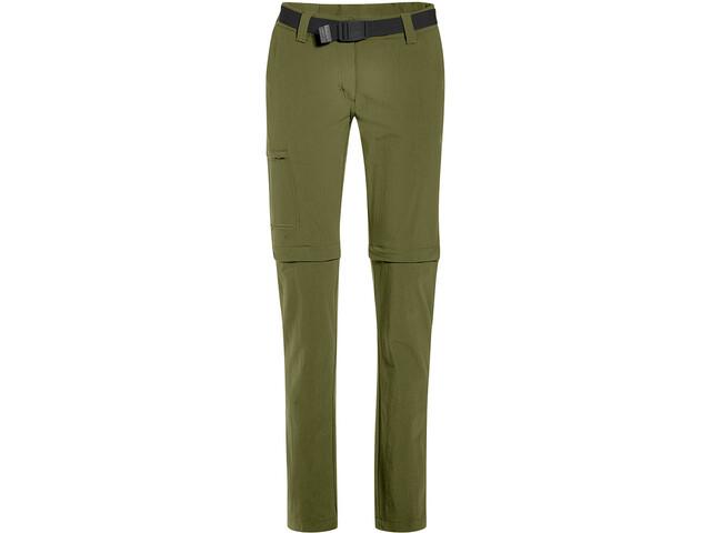 Maier Sports Inara Slim Pantaloni con zip Donna, winter moss